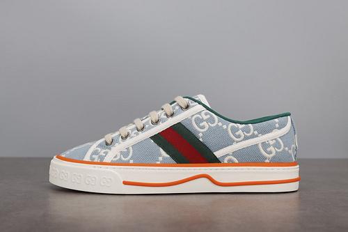 GUCCI 双G帆布鞋