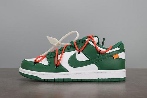 PK版 OFF-WHITE x Nike SB Dunk Low OW联名 白绿板鞋 CT0856-700    P45