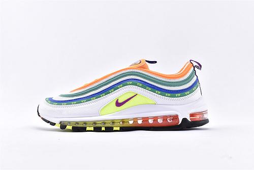 "Nike Air Max 97 ""London - On Air"" 子弹缓震跑鞋系列/ 伦敦限定彩虹跑步鞋   货号:CI1504-100  男女鞋  情侣款"