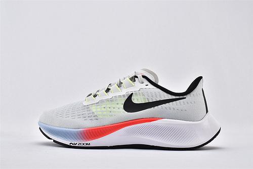 Nike Zoom PEGASUS 37 登月37代网面跑鞋/网纱透明 白黑 渐变彩虹 内置气垫缓震 网面透气 原标原盒  货号:CZ9308-001  男鞋