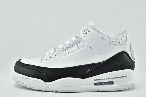 Air Jordan 3 Retro AJ3 乔丹3代篮球鞋/白粽 摩卡 爆裂纹  全头层   货号:136064-122   男女鞋 情侣款
