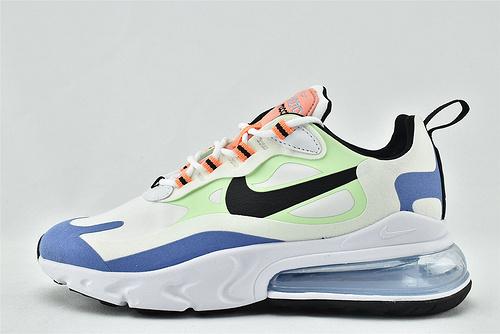 "Nike AirMax 270 React ""BAUHAUS"" 半小掌气垫气垫跑鞋/白黑蓝绿 拼色  货号:CU7833-100  女鞋"