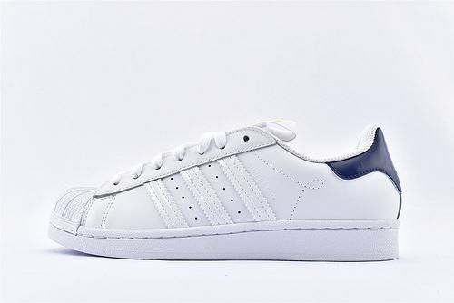 Adidas 三叶草 Superstar 贝壳头板鞋/2020新款 城市限定系列 白黄 蓝尾  货号:FW2852  男女鞋 情侣款