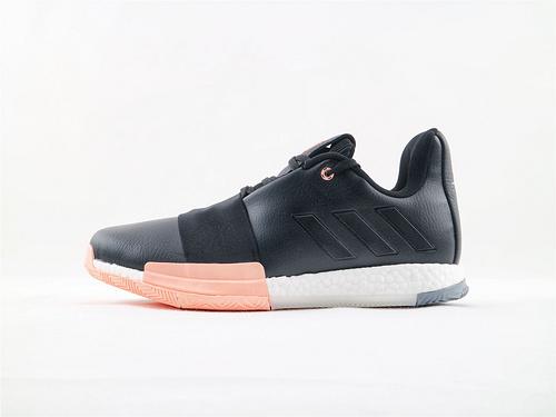 Adidas Harden Vol. 3.0 哈登3.0系列爆米花篮球鞋/皮面 黑粉  货号:EE3956  男鞋