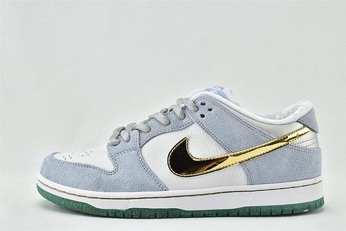 Sean Cliver x Nike SB Dunk Low 低帮滑板鞋/联名 白蓝金  货号:DC9936-100   男女鞋 情侣款