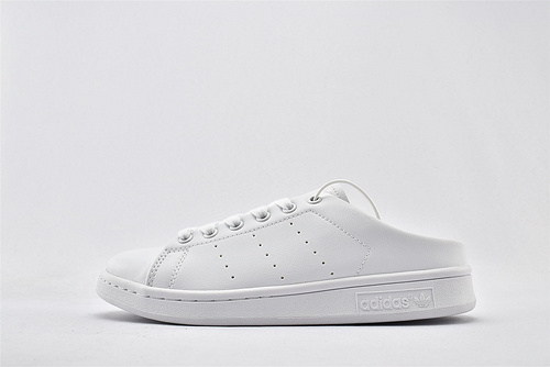 Adidas 三叶草 Stan Smith 史密斯板鞋/半拖 纯白  货号:FX0532  女鞋