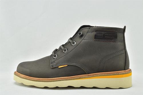 卡特/CAT 2020秋冬新款 美版中帮休闲皮靴/灰色 棕色  全头层   男鞋