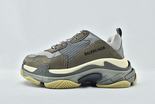 Balenciaga/巴黎世家 1.0 初代 复古老爹鞋/灰色 深灰 拼色 男女鞋  情侣款