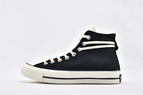 CONVERSE/匡威 x 1970s Fear of God FOG 联名高帮滑板鞋/黑米白 拼色   过验版   货号:167954C  男女鞋  情侣款