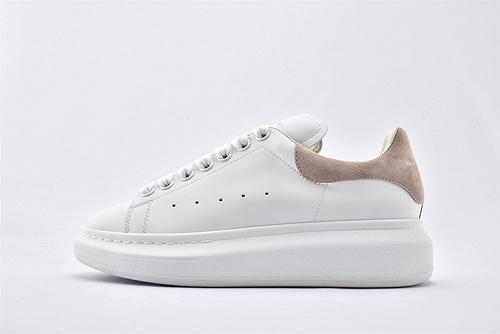 Alexander McQueen/亚历山大麦昆 松糕鞋厚底增高小白鞋/全白 粉尾【植绒】芯片 扫码 版  女鞋