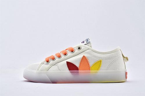 Adidas originals Nizza pride 三叶草帆布板鞋/鸳鸯果冻透明底  货号:FX3795  男女鞋  情侣款