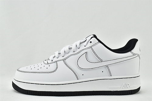 Nike Air Force 1 空军一号/低帮 白黑 新晋上市  货号:CV1724-104   男女鞋  情侣款