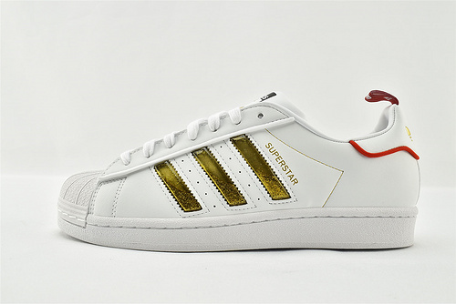 Adidas 三叶草 Superstar 贝壳头板鞋/白金 新年款 发售  货号:GX7914   男女鞋  情侣款