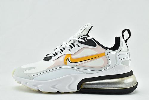 "Nike AirMax 270 React ""BAUHAUS"" 半小掌气垫气垫跑鞋/白黑橘  3M反光版  货号:CK4126-001  男女鞋  情侣款"