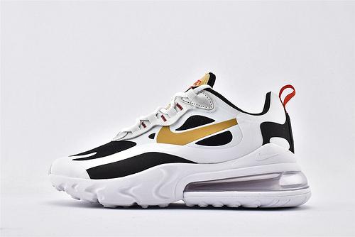 """Nike Air Max 270 React """"BAUHAUS"""" 半小掌气垫气垫跑鞋/黑白金 拼色 泡棉  纯原 芯片版  货号:CT3433-001  男女鞋 情侣款"""