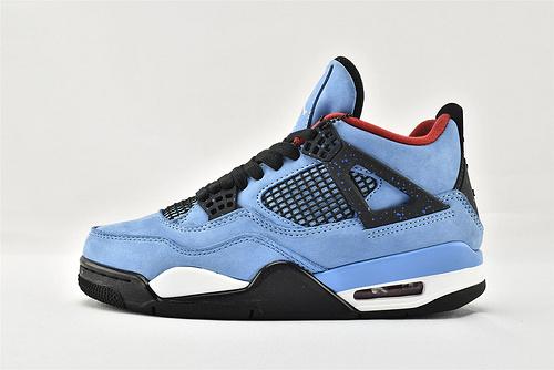 Air Jordan 4 AJ4 乔丹4代篮球鞋/蓝麂皮  货号:308497-406  男鞋