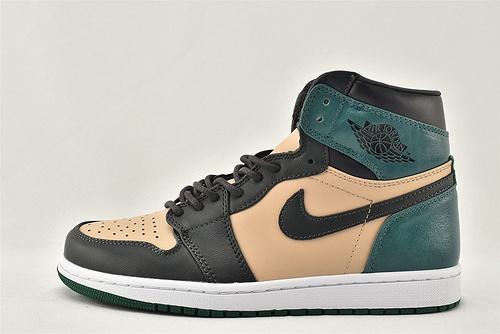 Air Jordan 1 RetroHigh AJ1 乔丹1代中帮篮球鞋/黑粉绿 嫩粉脚趾  货号:AH7389-203   男女鞋  情侣款