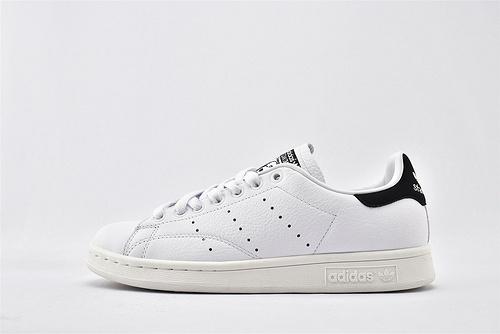 Adidas 三叶草 Stan Smith 史密斯板鞋/全白 黑尾 经典 头层牛皮 原盒原标  货号:BD7436  男女鞋  情侣款