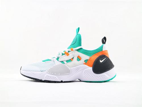Nike Huarache EDGE TXT QS 华莱士系列跑鞋/白绿 机能网面跑鞋  货号:BQ5206 100  男女鞋 情侣款