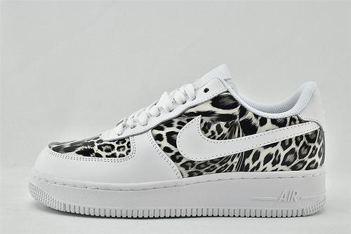 Nike Air Force 1 空军一号/低帮 白黑 豹纹  货号:315122-111  男女鞋  情侣款