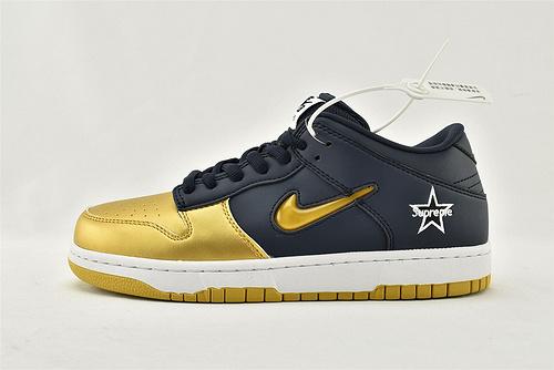 Nike SB Dunk Low x Supreme 低帮滑板鞋/联名 蓝金  货号:CK3480-700  男鞋