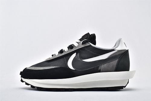 Sacai x Nike LVD Waffle Daybreak 联名走秀款解构高端跑鞋/网纱透明 黑白 华夫款  神版  货号:BV0073-001  男女鞋  情侣款