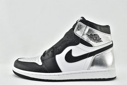 """Air Jordan 1 OG WMNS """"Silver Toe""""AJ1 乔丹1代高帮篮球鞋/黑银脚趾  2020新款发售  货号:CD0461-001  男鞋"""