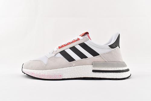 Adidas ZX500 Boost 爆米花/黑白泼墨复古跑鞋 货号:G27577  男女鞋  情侣款