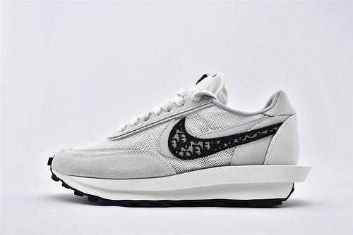 "Sacai x Nike LVD Waffle Daybreak x 迪奥/Dior 联名走秀款解构高端跑鞋/""冰蓝迪奥""货号:CN8898-002  男女鞋  情侣款"