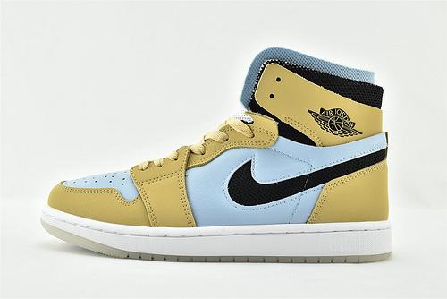 Air Jordan 1 Retro High Zoom AJ1 乔丹高帮篮球鞋/ 浅蓝黑麦 环保系列 王子文同款  货号:CT0979-400  男女鞋  情侣款