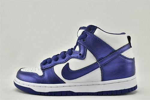 "Nike Dunk High ""Varsity Purple"" SB 高帮滑板鞋/白紫  货号:DC5382-100  女鞋"
