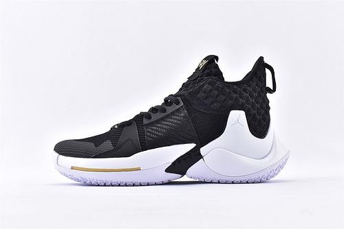 Jordan Why Not Zer0.2 PF 威少2代篮球鞋系列/雷霆黑白 实战无忧 内置缓震气垫  货号:BV6352-001  男鞋