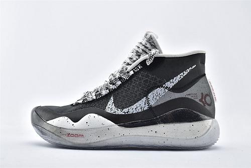 Nike ZOOM KD12 EP 杜兰特12代高端篮球鞋/黑灰【实战版】 纯原版  货号:AR4230-001  男鞋