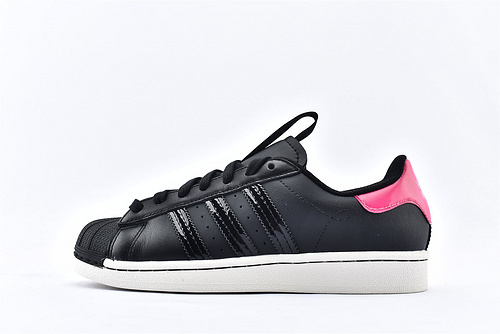 Adidas 三叶草 Superstar 贝壳头板鞋/黑粉 2020春夏新款  货号:FW3922  男女鞋  情侣款