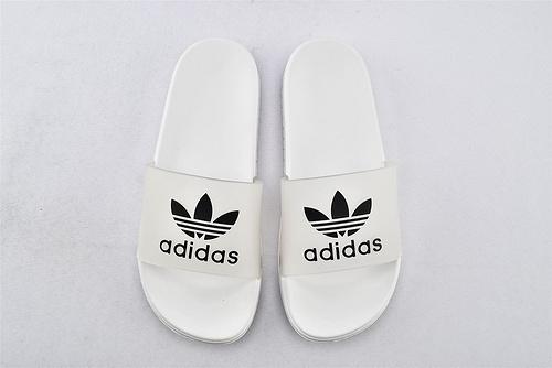 Adidas 软底拖鞋/白蓝 白红 白黑  男鞋