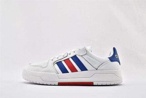 Adidas 2020新款板鞋/白蓝红 经典配色 全头层 各种百搭  货号:EH1668  男女鞋  情侣款