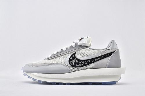 "Sacai x Nike LVD Waffle Daybreak x 迪奥/Dior 联名走秀款解构高端跑鞋/""冰蓝迪奥""水晶底  尺码:BV0073-068  男女鞋  情侣款"
