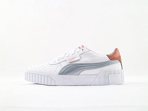彪马/Puma Cali Women's2019春季新款休闲板鞋 全头层 白银玫瑰金粉  货号:370295 01  女鞋