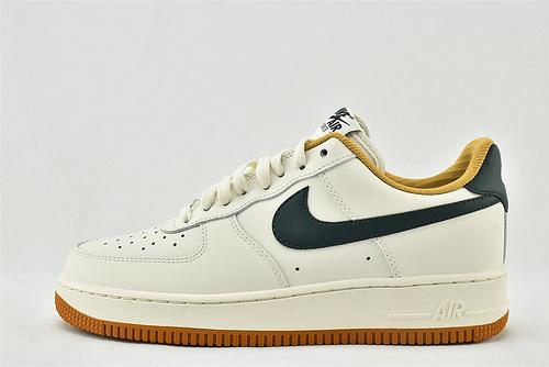 Nike Air Force 1 空军一号/低帮 米白棕 墨绿logo  货号:CJ6065-600  男女鞋  情侣款