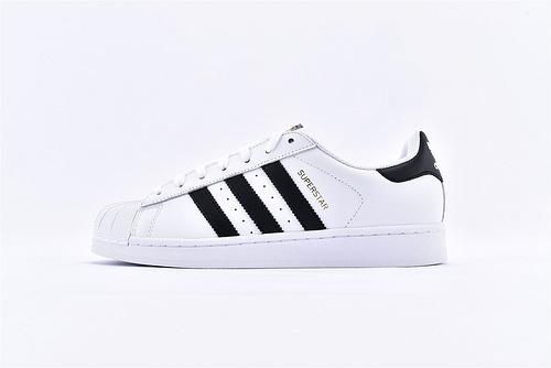Adidas 三叶草 Superstar 贝壳头系列/头层 金标  货号:C77124   男女鞋 情侣款
