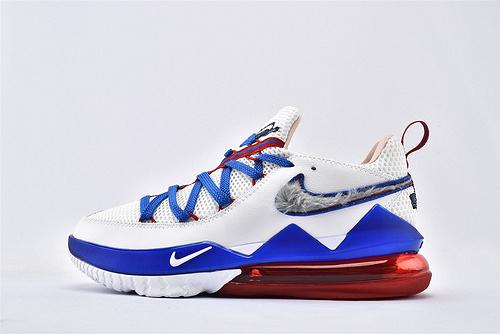 Nike LeBron 17 Low Tune Squad勒布朗詹姆斯17代 篮球鞋/大灌篮 兔八哥 白蓝红鸳鸯  货号:CD5007-100  男鞋