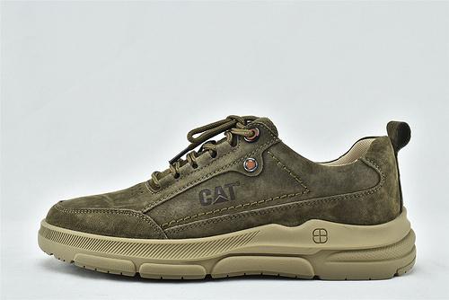 卡特/CAT 2020秋冬新款 美版低帮休闲皮鞋/小麦色 草绿色 两色  全头层   男鞋