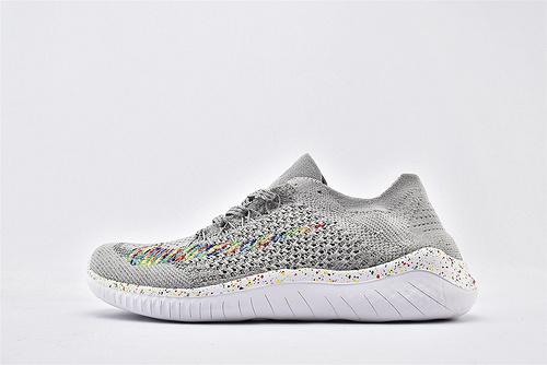 Nike Free RN 赤足系列夏季跑鞋/灰白彩虹 满天星  货号:942838-003  男女鞋 情侣款