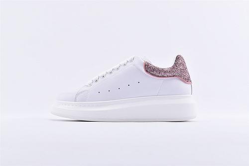 Alexander McQueen/亚历山大麦昆 2019最新上市 松糕鞋厚底增高小白鞋/全头层  女鞋