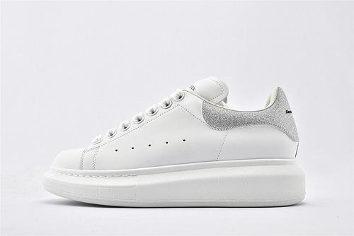 Alexander McQueen/亚历山大麦昆 松糕鞋厚底增高小白鞋/全白 满天星尾  芯片 扫码 版  女鞋