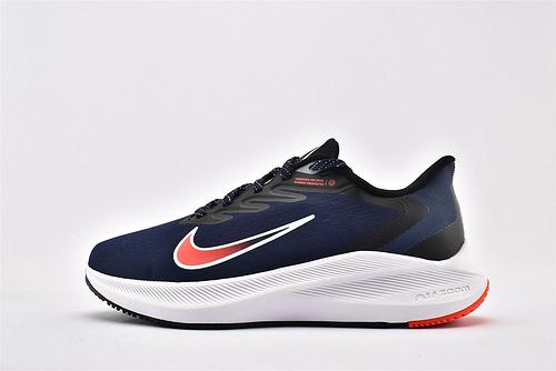 Nike Zoom Winflo 7 登月7代跑步鞋/深蓝白红  货号:CJ0291-400  男鞋