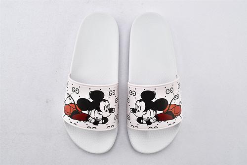 Gucci/古驰 米奇联名款 2020新款潮流拖鞋/3D印花 经典系列 版 原盒装  男女鞋  情侣款