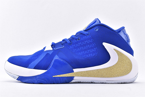 Nike Zoom Freak 1 字母哥1代高端篮球鞋/签名款 白蓝金反钩  实战纯原版  货号:BQ5633-400  男女鞋  情侣款