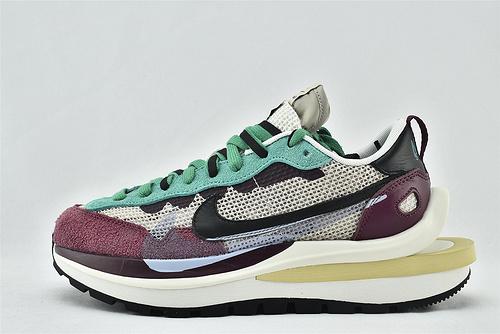 Nike VaporWaffle x Sacai 联名款 华夫3.0跑鞋/酒红绿拼色  货号:DD3035-200  男女鞋  情侣款
