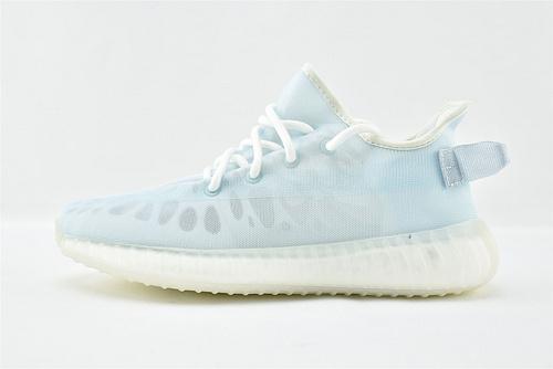 Adidas Yeezy Boost 350V2 椰子350系列/网纱 夏款 冰蓝   货号:GW2869  男女鞋  情侣款